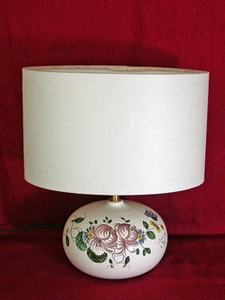 Lampe Taille1 aux 2 roses ABJ blanc