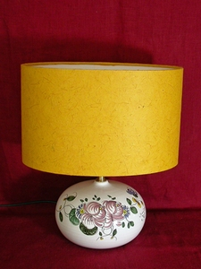 Lampe Taille1 aux 2 roses ABJ jaune
