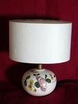 La Mini-lampe au Pois de senteur rose, abat-jour blanc